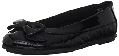 Stride Rite Shirley Flat (Little Kid/Big Kid),Black,4.5 M US Big Kid