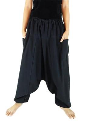 CandyHusky's Men Women 100% Cotton Baggy Boho Aladin Yoga Harem Pants