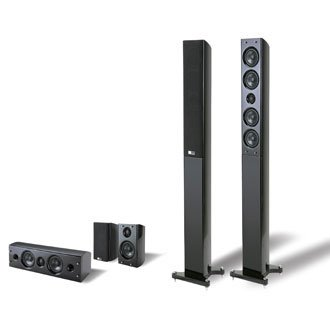 Pure Acoustics Dream Tower 5pcs Home Theater Set in Black in 3 Boxes
