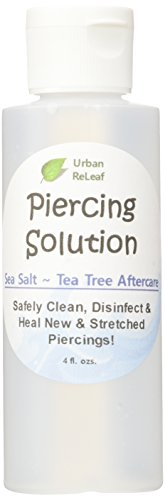 PIERCING SOLUTION ! Healing Sea Salts & Botanical AFTERCARE. 4 oz, Ready to use. Safely Clean, Disinfect & Heal New & Stretched Piercings. Gentle ~ Effective ~ 100% Natural. NON-iodized. Vitamin Rich Botanicals!