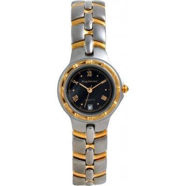 Krug-Baumen Ladies Regatta Black Dial Two Tone Strap Watch