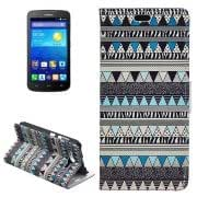 Aztec Tribal Pattern Horizontal Flip Leather Case with Card Slots Wallet Holder for Huawei Ascend Y520