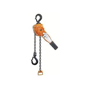 "CM Series 653 Steel Chain Lever Hoist, 16.25"" Lever, 1-1/2 ton Capacity, 20' Lift Height"