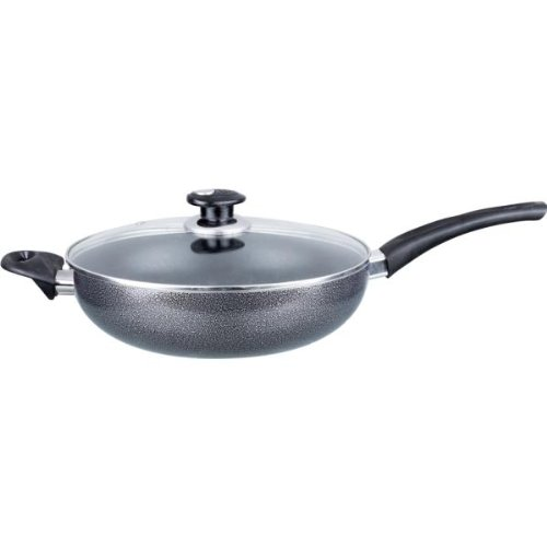 Black Friday Deals 10 Inch Aluminum Wok Fryer with Glass Lid - Case Pack 10 SKU-PAS653255