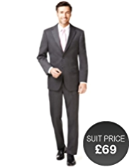 Slim Fit Machine Washable 2 Button Twill Jacket