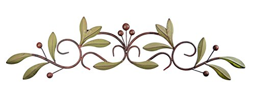 31 inch Wide Leaf and Berry Metal Wall Decor (Wine Country Art compare prices)