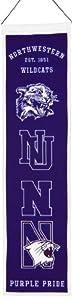 Buy NCAA Northwestern Wildcats Heritage Banner by Winning Streak