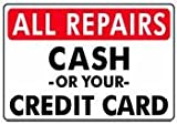 31%2BrGwIbyhL. SL160  ALL REPAIRS CASH OR YOUR CREDIT CARD 14x20 Heavy Duty Plastic Sign