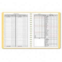 Dome 612 Monthly Bookkeeping Record  Tan Cover