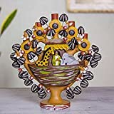 Ceramic tree of life sculpture, 'Noah's Ark' - Mexican Folk Art Tree of Life Noah's Ark Candle Holde