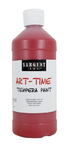 Sargent Art 22-6420 16-Ounce Art Time Tempera, Red - 1