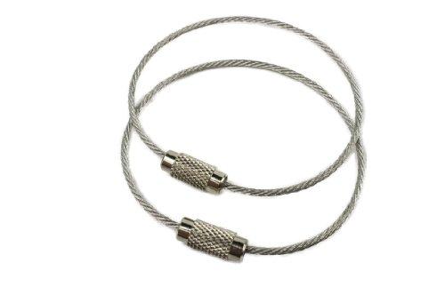 Vigilant Gear Aircraft Cable Edc Key Ring