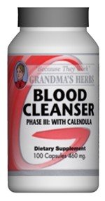 Blood Cleanser Phase Iii - All Natural Herbal Supplement That Cleanses The Blood - 100 Capsules