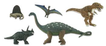 Scene-A-Rama Scene Setters Prehistoric Life Dinosaures (5pcs) - 1