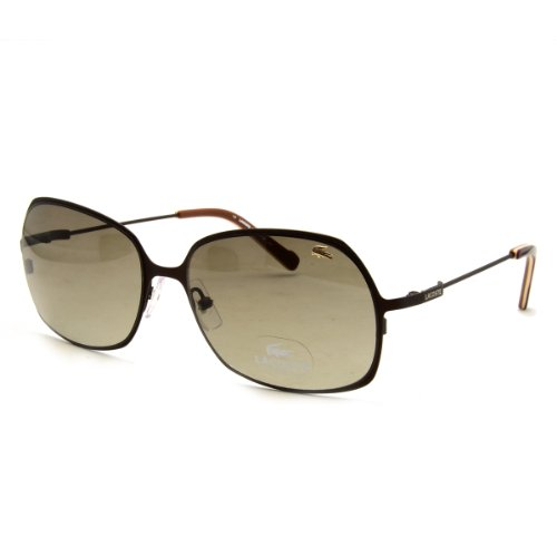 Lacoste L Satin Brown Rectangular Sunglasses 118S 210