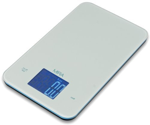 MIRA Chefs Professional Digital Kitchen Scale, White by MIRA Brands