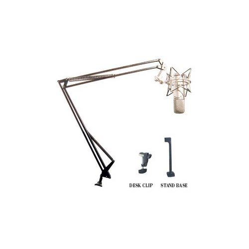 Superlux Hm-50B Broadcast Boom Stand W/ Clamp, Flange Mounts And Cable