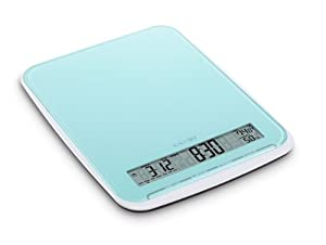Camry 22lb Digital Kitchen Scale Colorful Design with Calendar,room Humidity,alarm Timer... by CamryScaleStore
