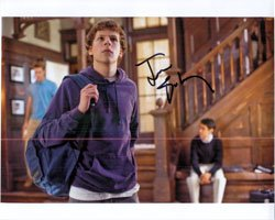 Signed Eisenberg, Jesse (The Social Network) 8×10 autographed