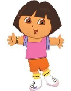Grabo 37 Inch Dora The Explorer Shaped Character Foil Balloon (cs51) - 1