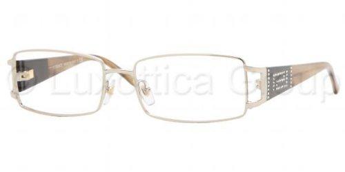 58045111f11f Versace Women's 1163b Light Gold / Light Tortoise Frame Metal Eyeglasses,  ...