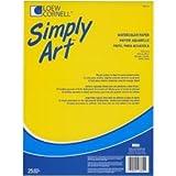 """Bulk Buy: Loew-Cornell Simply Art Watercolor Paper Pads 9""""X12-25 Sheets (3-Pack)"""