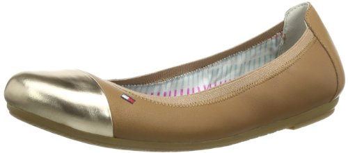 Tommy Hilfiger Womens CAMILLA 43C Closed Beige Beige (WHEAT/ROSE GOLD 024) Size: 37