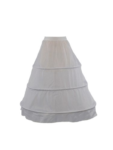 Topwedding Women's 3 Hoop Dress Underskirt Petticoat
