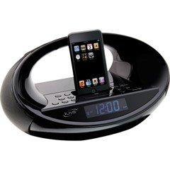 iLive IC638B Clock Radio with Docking Station for iPod (Black)