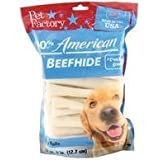 PET FACTORY 949045 Usa 5-Inch Chip Rolls Chews for Dogs, 22-Pack