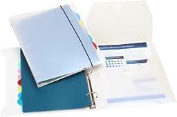 Storex 1.5-Inch Organizer Binder with 8 Tab Dividers, White (53102U01C)