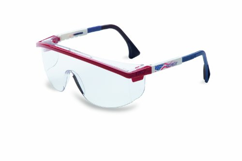 Uvex S1169C Astrospec 3000 Safety Eyewear, Red/White/Blue Frame, Clear UV Extreme Anti-Fog Lens (Fisher 3000 compare prices)
