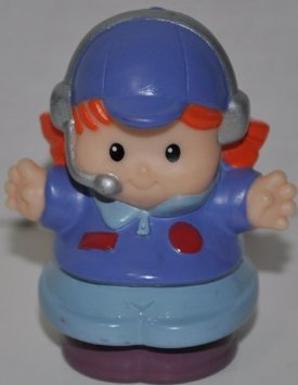 Little People Airplane Pilot (2005) - Replacement Figure - Classic Fisher Price Collectible Figures - Loose Out Of Package & Print (OOP) - Zoo Circus Ark Pet Castle - 1