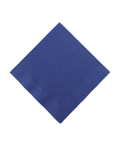 Beverage Size Napkins, Navy Blue, 50-Pack