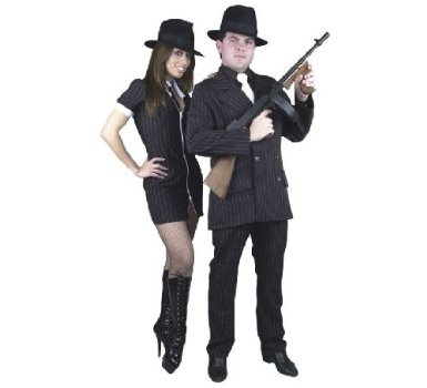 Plus Size Gangster Costume Suit (Not included: Shirt Front/Tie, Hat and Weapon.)
