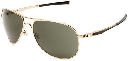 oakley gold frame sunglasses  Oakley Men\u0027s Plaintiff OO4057-02 Aviator Sunglasses,Polished Gold ...