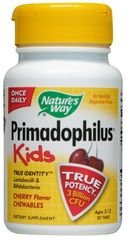 Nature'S Way, Chewable Cherry Primadophilus For Kids, 30 Tab