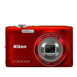 Nikon Coolpix S3100 Digital Camera (Red)
