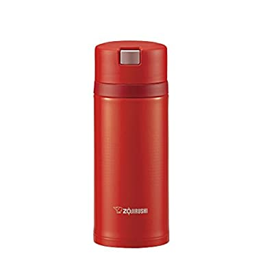 Zojirushi Japanese Water Bottle .36 L scarlet quick easy open lock. SM XB RV 36.