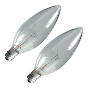 G E Lighting 75033 2PK40W CLR Blunt Bulb (40 Watt Candelabra Bulbs compare prices)