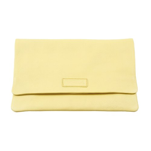 Hüftgold Womens bag no. 65 Clutch Yellow Gelb (anisette 310) Size: 27x17x2 cm (B x H x T)