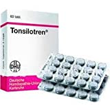TONSILOTREN - Acute & Chronic Tonsillitis Treatment, after surgical removal of the Tonsils 60 Tablets