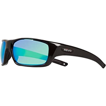 Buy Revo Unisex Guide II Nylon Sunglasses, Shiny Black Green Water Poly, One Size by Revo