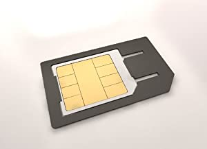 Akord - Adaptateur Convertisseur MICRO SIM - NEW DESIGN - ** PAS DE STICKER REQUIS ** pour iPHONE 4 4S iPAD iPAD2 - Technologie CLICK-IN
