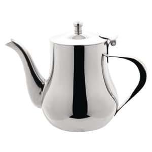 Arabian Tea Pot 48oz capacity stainless steel teapot.