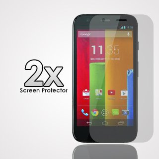 Clear Screen Protector For Motorola Moto G (Cdma/Gsm) Xt1032/Xt1034 (Verizon/Boost Mobile/Cricket) X2 By Thephonecovers
