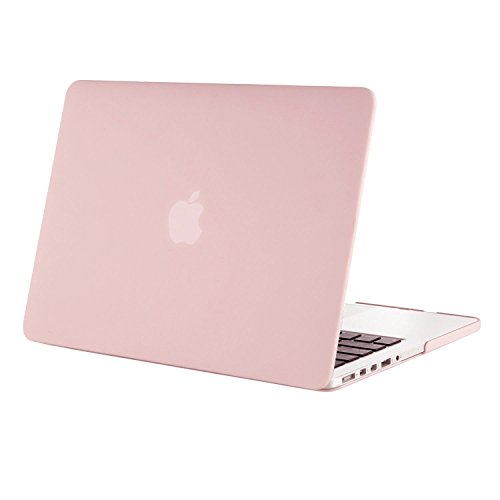 Mosiso Plastic Hard Case Cover for MacBook Pro 13 Inch with Retina Display (Models: A1502 and A1425), Rose Quartz (Display Case Rose compare prices)