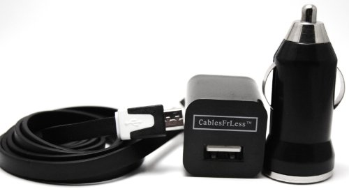 CablesFrLess (TM) 3 in 1 Black 3ft Tangle Free