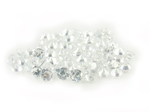 Cz0002 1.8 Mm Round White Cubic Zirconia Aaa Semi Machine Cut Quality 500 Pcs Loose Gemstone Lot