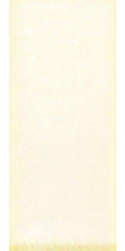 Offray Lady Chiffon Sheer Craft Ribbon, 7/8-Inch Wide by 100-Yard Spool, Cream